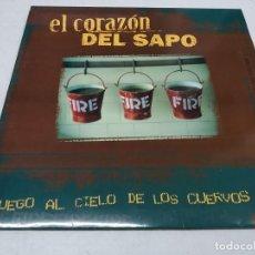 Discos de vinilo: EL CORAZÓN DEL SAPO – FUEGO AL CIELO DE LOS CUERVOS--PRIMERA EDICIÓN 1998. Lote 295999753