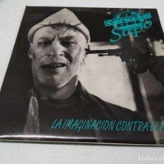 Discos de vinilo: EL CORAZÓN DEL SAPO - LA IMAGINACIÓN CONTRA EL PODER -EDICION 1994. Lote 296000038