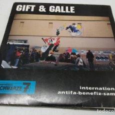 Discos de vinilo: GIFT & GALLE - INTERNATIONALER ANTIFA-BENEFIZ-SAMPLER (LP, COMP). Lote 296001123