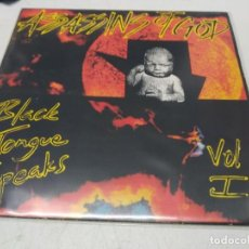 Discos de vinilo: ASSASSINS OF GOD - BLACK TONGUE SPEAKS VOL I (LP, ALBUM). Lote 296003358