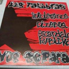Discos de vinilo: LAS PALABRAS NOS SEPARAN. LOS HECHOS NOS UNEN. (LP, COMP). Lote 296005273