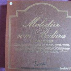 Discos de vinilo: BOX SET - MELODIER SOM BEDARA 1940-1949 - VARIOS (CAJA CON 11 LP'S, SWEDEN, DISCOS SONORA 1978). Lote 296005293