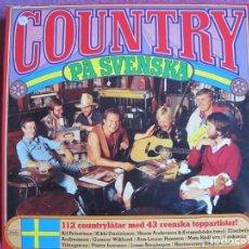 Discos de vinilo: BOX SET - COUNTRY PA SVENSKA - VARIOS (CAJA CON 10 LP'S, SWEDEN, READER'S DIGEST, VER FOTOS). Lote 296010638