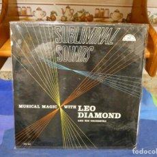 Discos de vinilo: EXPRO LP USA LEO DIAMOND RECORD ALBUM ABC #303 STEREO SUBLIMINAL SOUNDS 1960. Lote 296017208