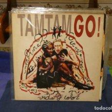 Discos de vinilo: EXPRO LP POP ESPAÑOL 1992 TAM TAM GO VIDA Y COLOR MUY BUEN ESTADO GENERAL. Lote 296018823
