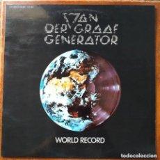 Discos de vinilo: VAN DER GRAAF GENERATOR - WORLD RECORD (LP) 1977. Lote 296023573