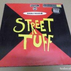 Discos de vinilo: THE REBEL MC & DOUBLE TROUBLE (MAXI) STREET TUFF (4 TRACKS) AÑO – 1991 – EDICION U.K.. Lote 296043733