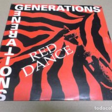 Discos de vinilo: RED DANCE (MAXI) GENERATIONS (2 TRACKS) AÑO – 1992. Lote 296044518