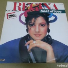 Discos de vinilo: REGINA (MAXI) BEAT OF LOVE (2 TRACKS) AÑO – 1986. Lote 296046378