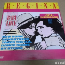Discos de vinilo: REGINA (MAXI) BABY LOVE (4 TRACKS) AÑO – 1987. Lote 296046463