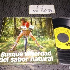 Discos de vinilo: SINGLE PROMOCIONAL KAS CREMA BUSQUE LA VERDAD DEL SABOR NATURAL. Lote 296048878