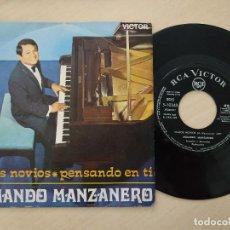 Discos de vinilo: ARMANDO MANZANERO - SOMOS NOVIOS / PENSANDO EN TI - SINGLE RCA 1968 VINILO COMO NUEVO. Lote 296050138