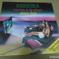 Discos de vinilo: RIGHEIRA (MAXI) VAMOS A LA PLAYA (2 TRACKS) AÑO – 1983. Lote 296052158