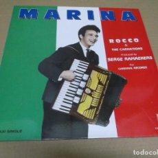 Discos de vinilo: ROCCO & THE CARNATIONS (MAXI) MARINA (3 TRACKS) AÑO – 1989. Lote 296060698