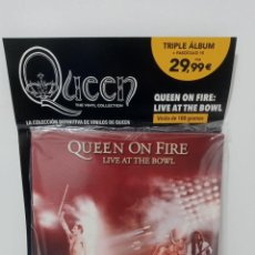 Discos de vinilo: QUEEN: THE VINYL COLLECTION - QUEEN ON FIRE: LIVE AT THE BOWL (TRIPLE ALBUM) (PRECINTADO). Lote 296066923