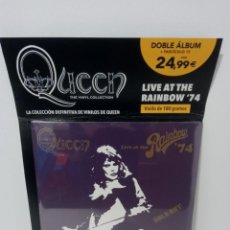 Discos de vinilo: QUEEN: THE VINYL COLLECTION - LIVE AT THE RAINBOW '74 (DOBLE ALBUM) - PLANETA DEAGOSTINI(PRECINTADO). Lote 296066973
