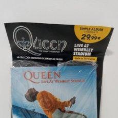 Discos de vinilo: QUEEN: THE VINYL COLLECTION - LIVE AT WEMBLEY STADIUM (TRIPLE ALBUM) (PRECINTADO). Lote 296067083