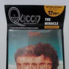 Discos de vinilo: QUEEN: THE VINYL COLLECTION - THE MIRACLE - PLANETA DEAGOSTINI (PRECINTADO). Lote 296067753