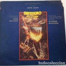 Discos de vinilo: VINILO JOHN WILLIAMS INFIERNO EN LA TORRE SOUNDTRACK. Lote 296302778