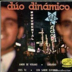 Discos de vinilo: DUO DINAMICO / AMOR DE VERANO + 3 (EP LA VOZ DE SU AMO 1958). Lote 296582158