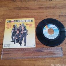 Discos de vinilo: DISCO DE VINILO DE 45RPM DE LA PELÍCULA GOSTHBUSTERS II DE 1989. Lote 296608543