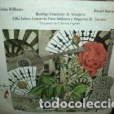Discos de vinilo: JOHN WILLIAMS DANIEL BARENBOIM VILLA LOBOS VINILO ARGENTINO. Lote 296452153