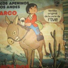 Discos de vinilo: MARCO - DE LOS APENINOS A LOS ANDES / SOMOS DOS SINGLE ORIGINAL ESPAÑOL - PHILIPS 1977 -. Lote 296611818