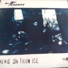 Discos de vinilo: MX. KC FLIGHTT - WALKING ON THIN ICE / SHAMBLES. Lote 296615538
