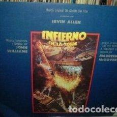 Discos de vinilo: JOHN WILLIAMS INFIERNO EN LA TORRE VINILO ARGENTINO PROMO. Lote 296521003