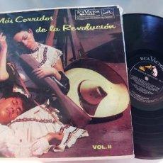 Discos de vinilo: MAS CORRIDOS DE LA REVOLUCION- LP VOL.II. Lote 296622843