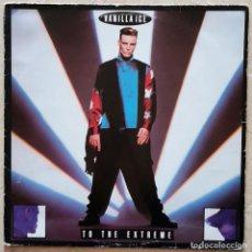 Discos de vinilo: VANILLA ICE – TO THE EXTREME LP, SPAIN 1990 INCL. ENCARTE. Lote 296628798