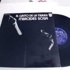 Discos de vinilo: MERCEDES SOSA-LP EL GRITO DE LA TIERRA. Lote 296629448