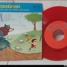 Discos de vinilo: SINGLE DISCO VINILO PEQUEÑO DE EL PASTOR MENTIROSO. Lote 296630028