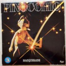 Discos de vinilo: MASQUERADE – PINOCCHIO LP, SPAIN 1980 - MUY BUEN ESTADO. Lote 296630523