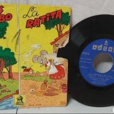 Discos de vinilo: SINGLE DISCO VINILO PEQUEÑO CHIVITOS Y LA RATITA. Lote 296631613