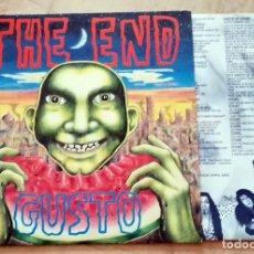 Discos de vinilo: THE END – GUSTO LP, UK 1991 INCL. ENCARTE - PUNK, PSYCHEDELIC ROCK. Lote 296635948