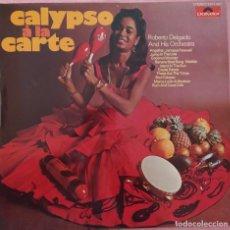 Discos de vinilo: LP ROBERTO DELGADO - CALYSO A LA CARTA - POLYDOR 2371 007 - GERMANY (EX/EX+). Lote 296688248
