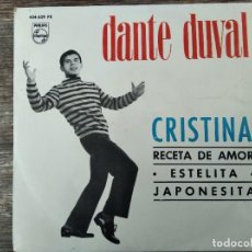 Discos de vinilo: DANTE DUVAL - CRISTINA + 3 **** RARO EP ESPAÑOL 1965!. Lote 296688833