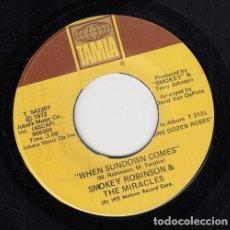 Discos de vinilo: SMOKEY ROBINSON AND THE MIRACLES - WE'VE COME TO FAR TO END - SINGLE DE VINILO EDITADO EN U.S.A. #. Lote 296698183