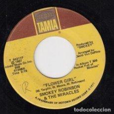 Discos de vinilo: SMOKEY ROBINSON AND THE MIRACLES - SATISFACTION / FLOWER GIRL - SINGLE DE VINILO EDITADO EN U.S.A. #. Lote 296698333