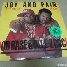 Discos de vinilo: ROB BASE & D.J. E-Z ROCK (MAXI) JOY AND PAIN (4 TRACKS) AÑO – 1989 – EDICION U.S.A.. Lote 296698413