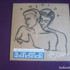 Discos de vinilo: LOS COYOTES DE VICTOR ABUNDANCIA + TOÑI AZUCAR MORENO - HECHOS A MEDIDA - SG TRES CIPRESES 1990. Lote 296702803