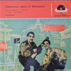 Discos de vinilo: EP - MARFIL Y MORALES - CANCIONES PARA EL ROMANCE - 1957. Lote 296712093