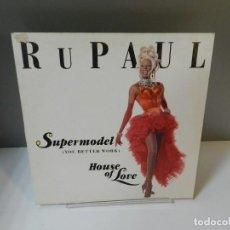 Discos de vinilo: DISCO VINILO MAXI. RUPAUL – SUPERMODEL. 33 RPM. Lote 296721038