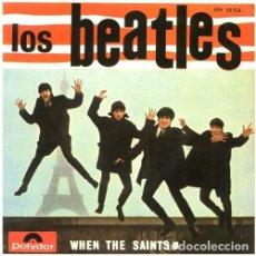 Discos de vinilo: THE BEATLES CON TONY SHERIDAN-WHEN THE SAINTS-EP SPAIN 1964- POLYDOR EPH 50926. Lote 296725838