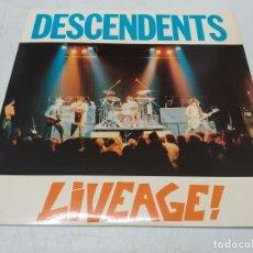 Discos de vinilo: DESCENDENTS - LIVEAGE! (LP, ALBUM)--EDICION 1987. Lote 296726513