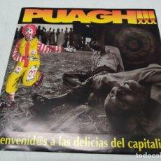 Discos de vinilo: PUAGH - BIENVENID@S A LAS DELICIAS DEL CAPITALISMO+ INSERT. Lote 296727388