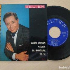 Discos de vinilo: ANDY RUSSELL - DANKE SCHOEN (MUCHAS GRACIAS) / GLORIA / LA MONTAÑA / YO SÉ - RARO EP DEL 1963. Lote 296728353