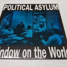 Discos de vinilo: POLITICAL ASYLUM - WINDOW ON THE WORLD -CON EL INSERT. Lote 296729398