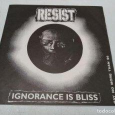 Discos de vinilo: RESIST--IGNORANCE IS BLISS (LP, ALBUM). Lote 296729958